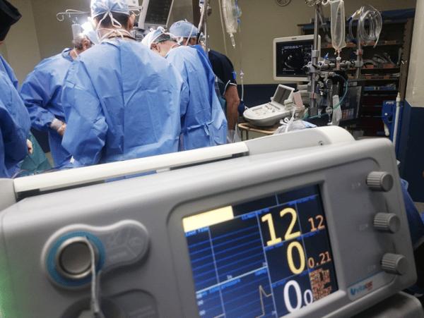 doctors doing surgery inside emergency room