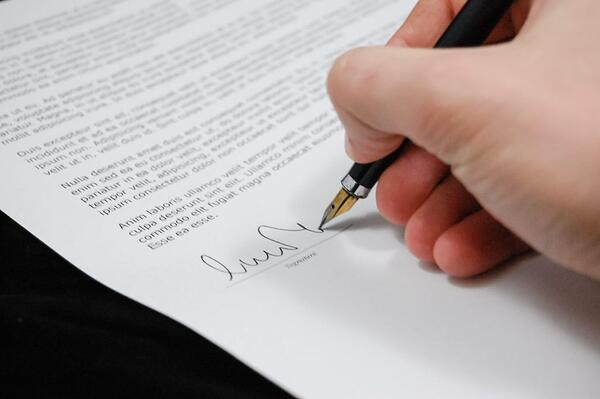 sign up paperwork