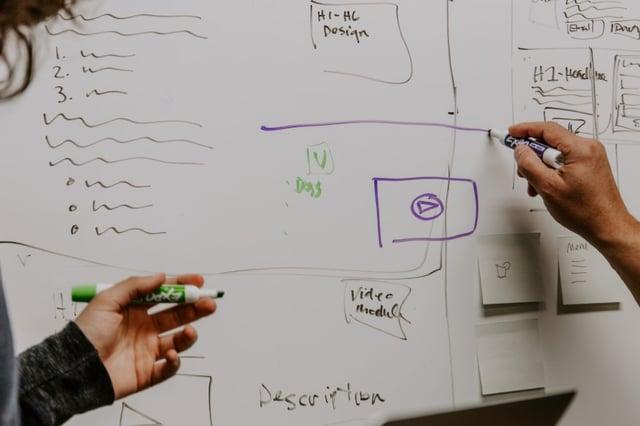 ideas on a whiteboard