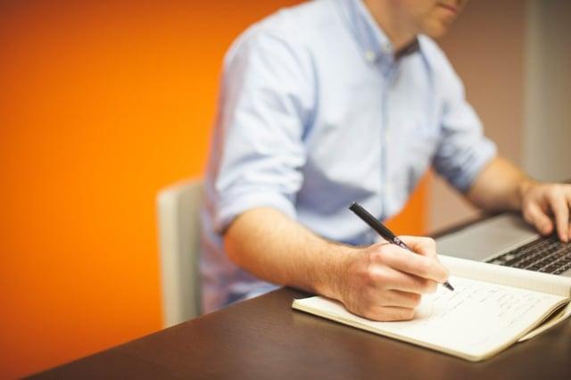 office businessman plan