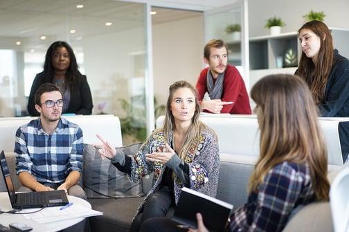 Mentor guiding a startup