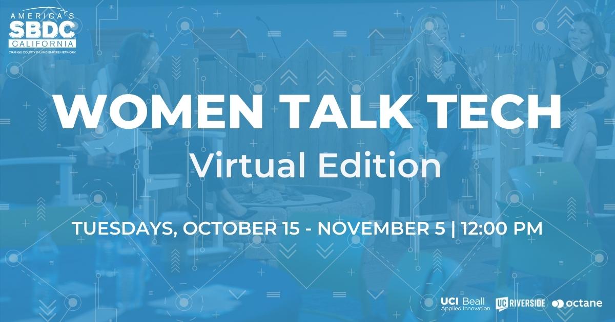 SBDC Women Talk Tech